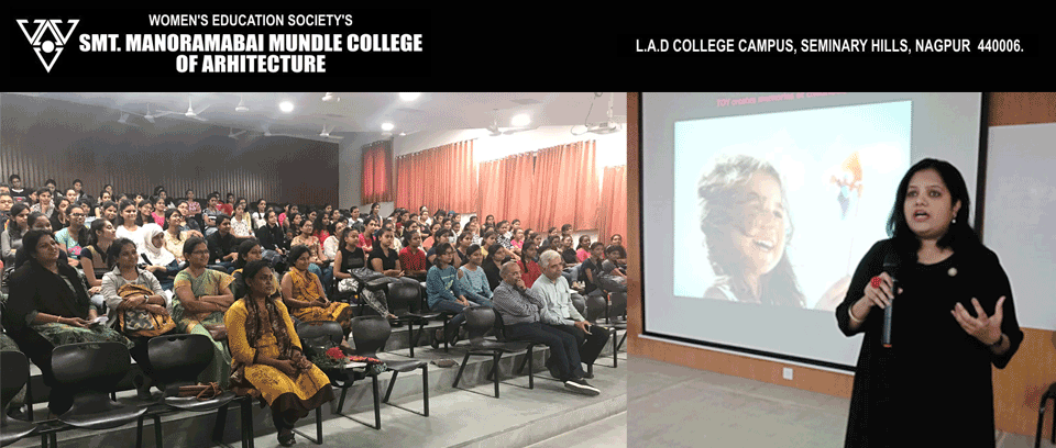 Suhasini Paul invited share her work & experiences with architecture students of L.A.D. college Nagpur !